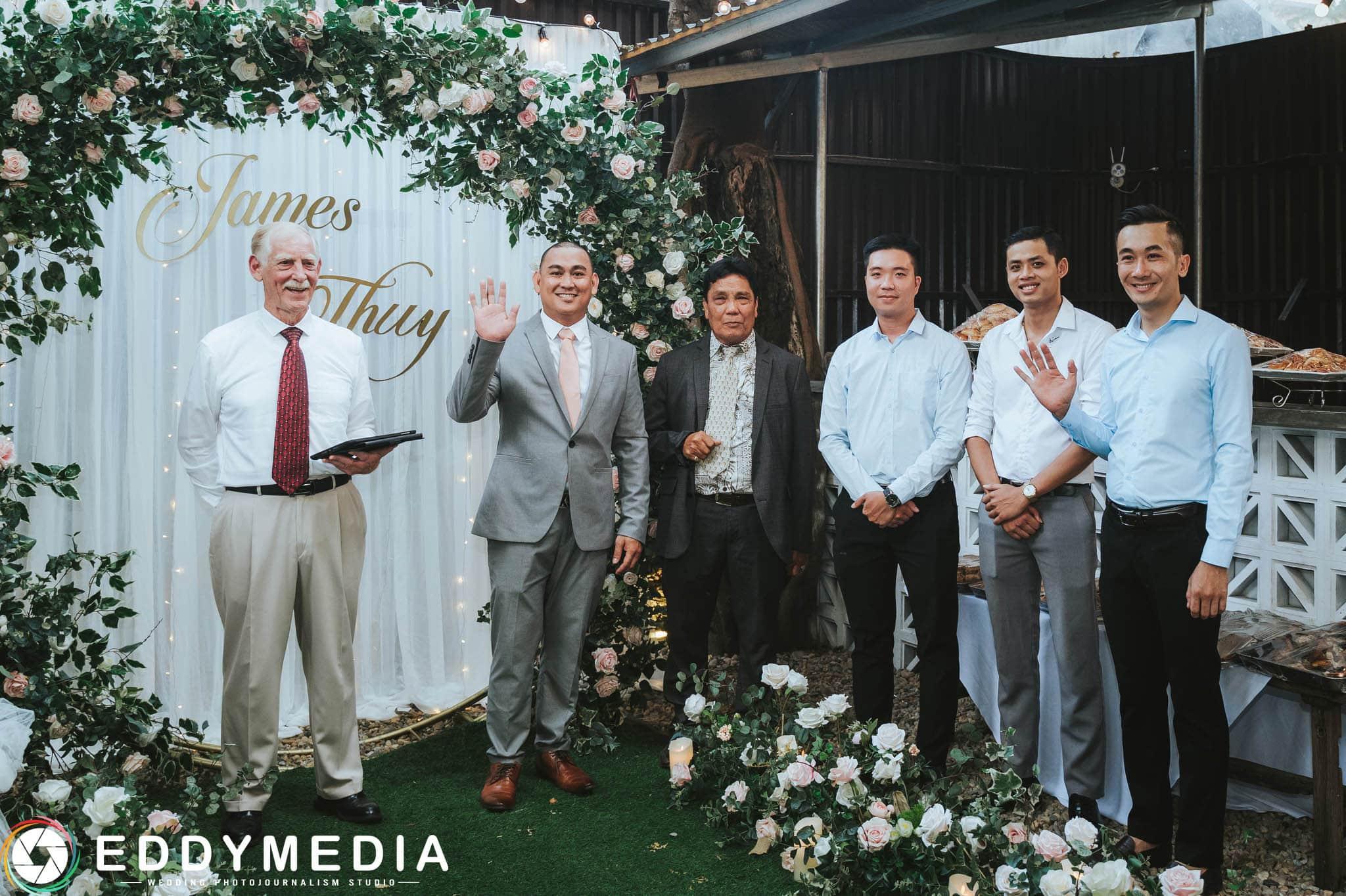 Phongsucuoi James KieuThuy EddyMedia 25 tiệc cưới ngoài trời